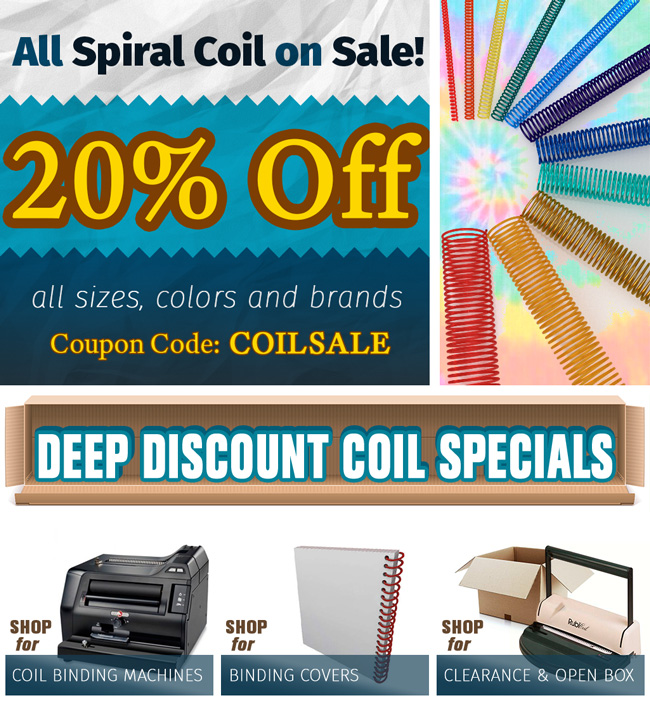 20% Sale on Spiral Binding Combs.
