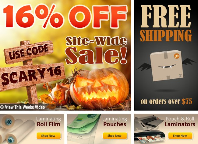 Scary 16% Off Sale and Free Shipping on Orders over $75!
