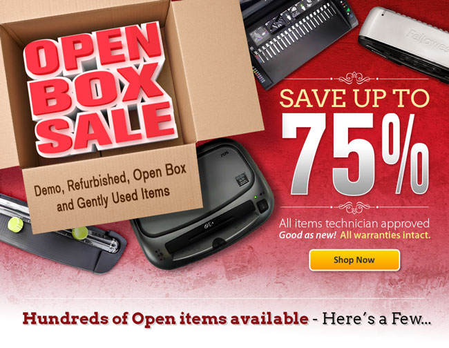 Save on Open Box items.