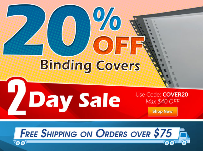 20% OFF Binding Covers