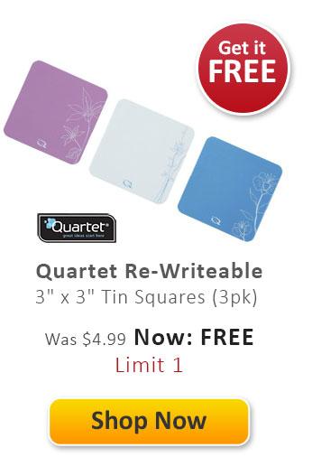 "Quartet Re-Writeable 3"" x 3"" Tin Squares"