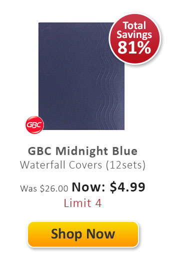 GBC Midnight Blue Waterfall Covers