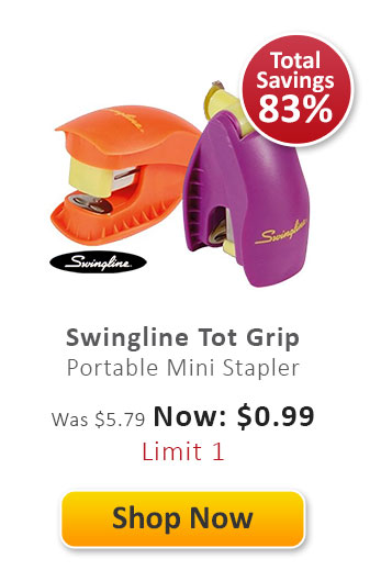 Swingline Tot Grip Portable Mini Stapler