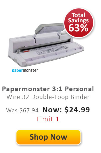 Papermonster 3:1 Personal Wire 32 Double-Loop Binder