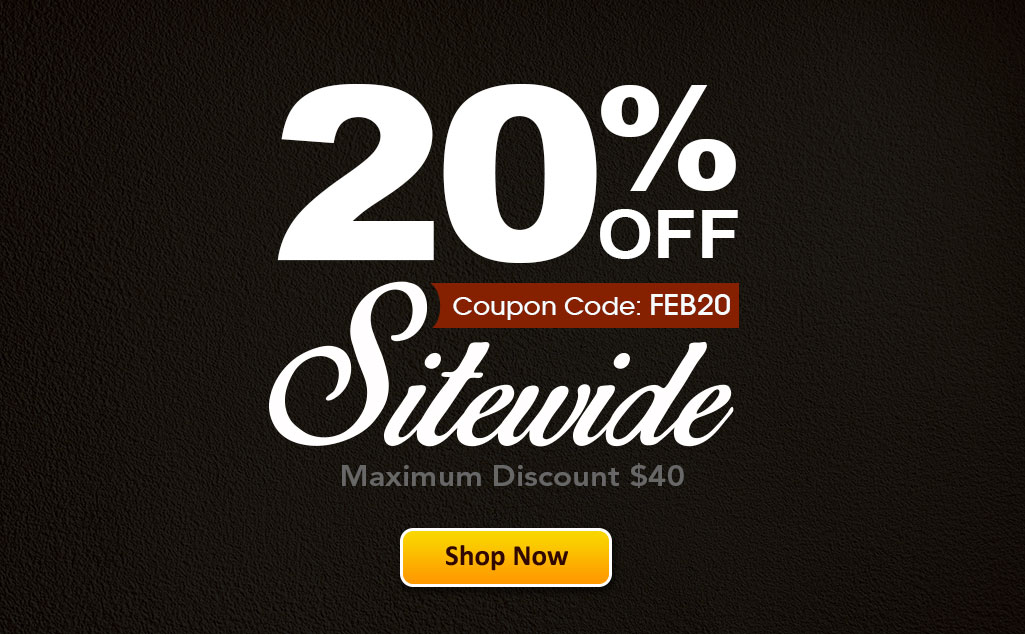 20% OFF Sitewide!
