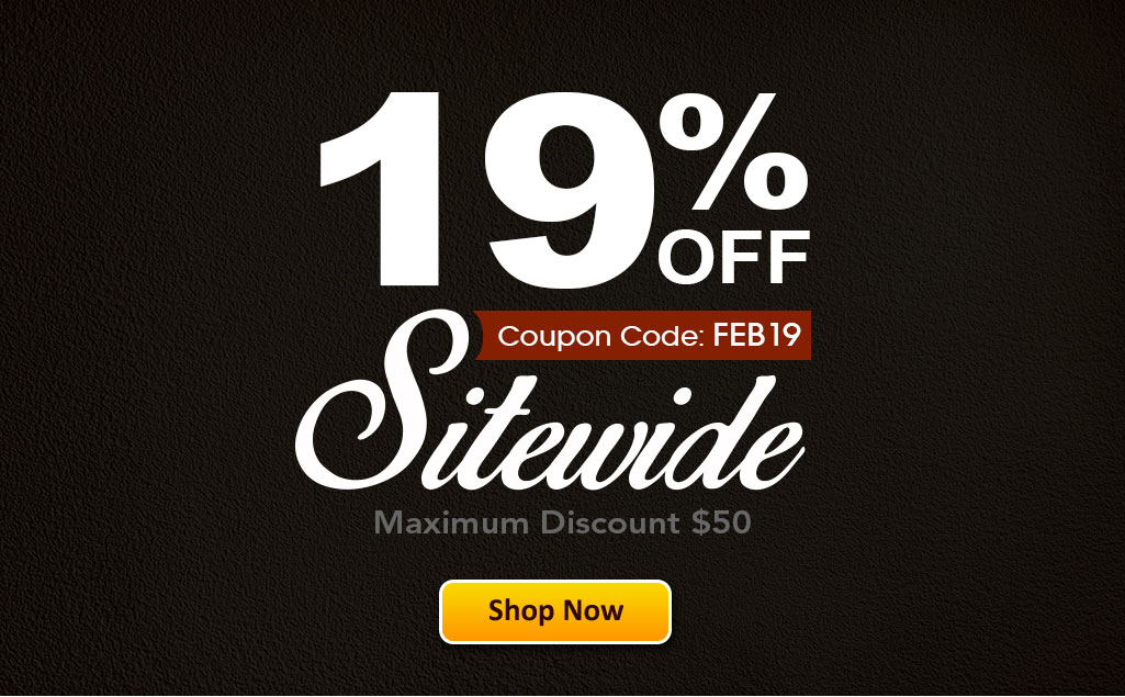 Save 19% OFF Sitewide!