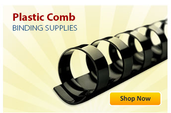 Plastic Comb Binding Supplies