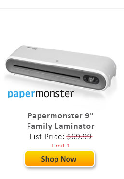 "Papermonster 9"" Family Pouch Laminator"