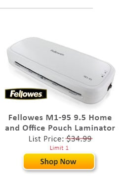 Fellowes M1-95 9.5 Home and Office Pouch Laminator