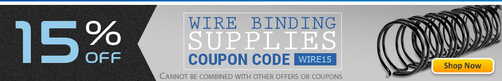 Save 15% OFF Twin Wire Binding