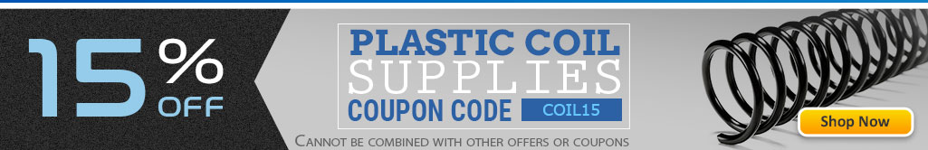 Save 15% OFF Plastic Coil Binding Supplies