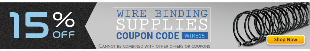 Save 15% OFF Twin Loop Wire Binding