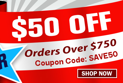 $50 off Orders Over $750