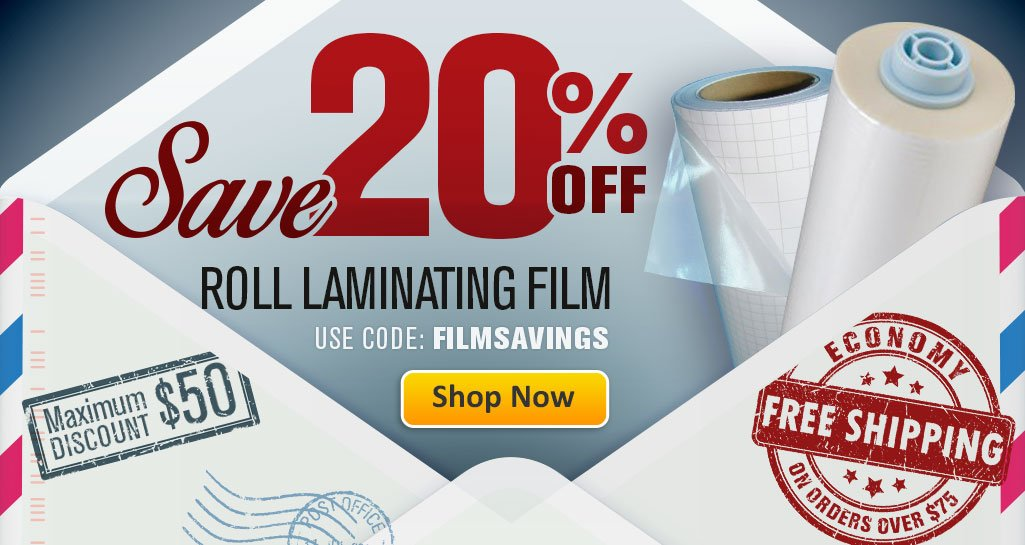 Stock-Up and Save 20% on Roll Laminating Film