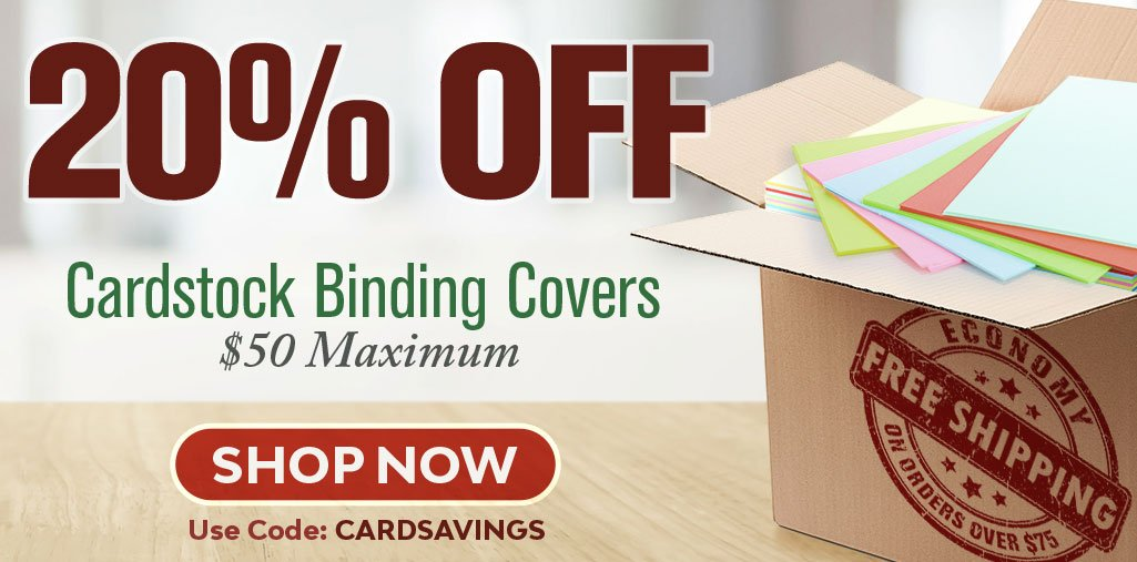Stock-Up and Save 20% on Cardstock Binding Covers!