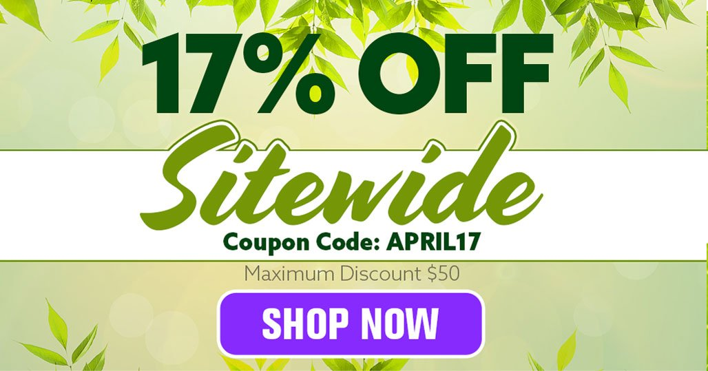 17% Sitewide sale on our entire catalog! This week only.