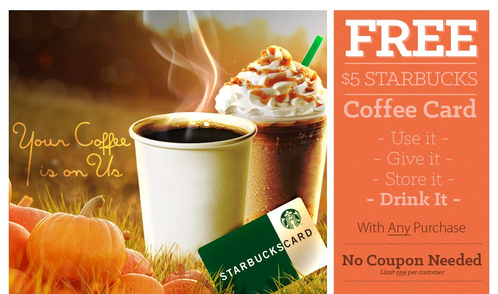 FREE Gourmet Coffee Card